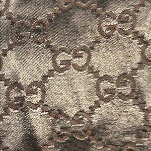Gucci Dark Signature Brown Dust Bag